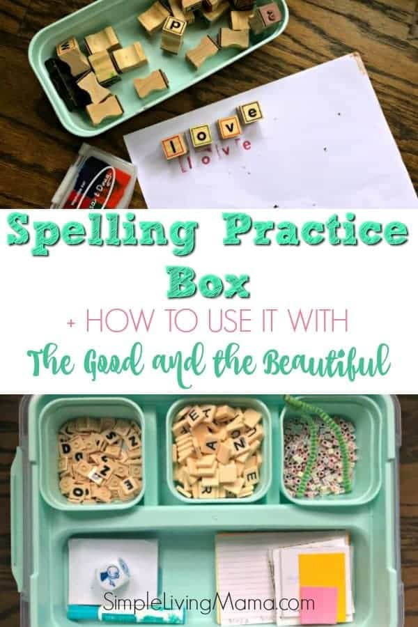 Take a peek inside our spelling practice box and see how we use it with The Good and the Beautiful's language arts curriculum!