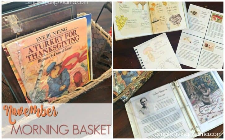 November 2018 Homeschool Morning Basket and Morning Time Binder