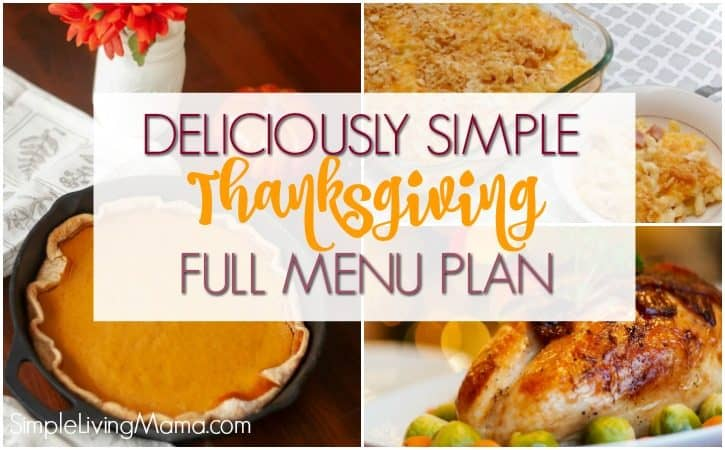 Full Thanksgiving Meal Plan