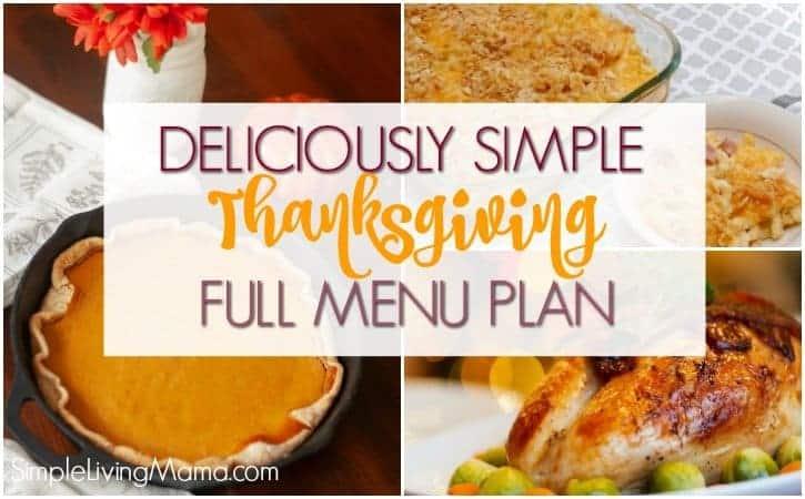 Full Thanksgiving Meal Plan