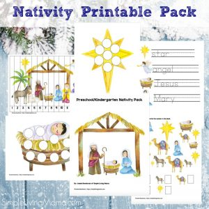 Nativity printable pack for preschool and kindergarten.