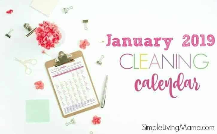 January 2019 Cleaning Calendar