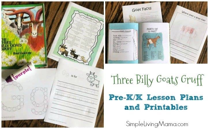 Three Billy Goats Gruff Preschool Lesson Plans and Printables
