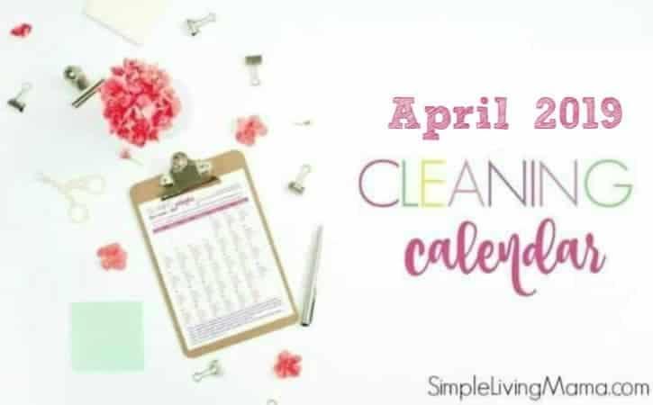 April 2019 Cleaning Calendar