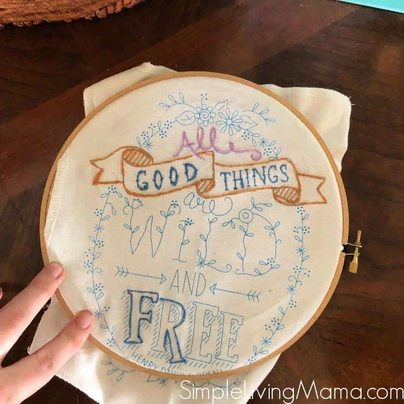 all good things embroidery