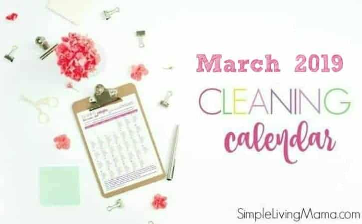 March 2019 Cleaning Calendar