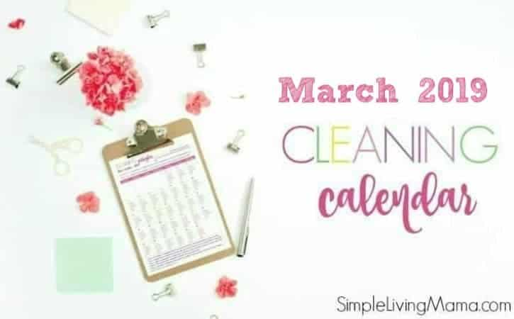 The March cleaning calendar will help you get your home in tip top shape!