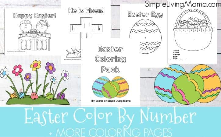Easter Color By Number Pages