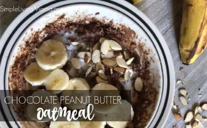 Three Minute Chocolate Peanut Butter Oatmeal