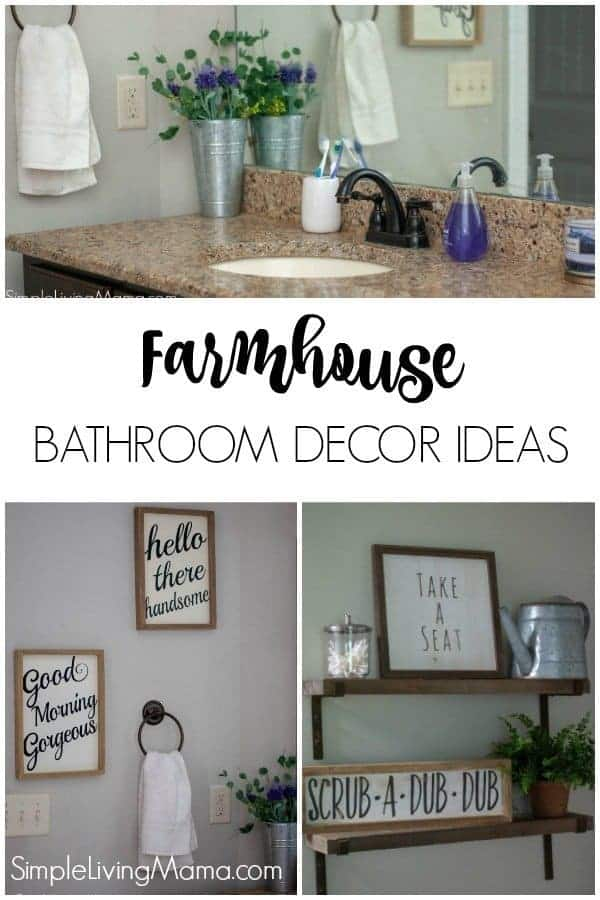 These farmhouse bathroom decor ideas are adorable and super easy to incorporate into your bathroom.