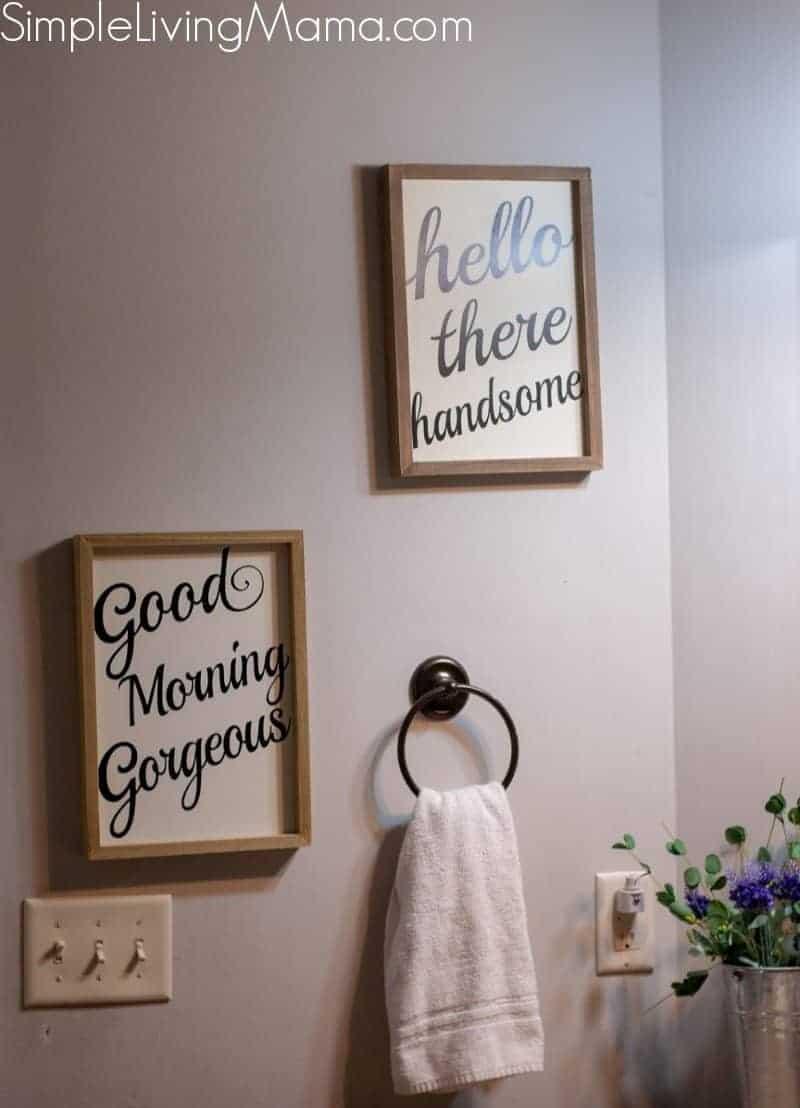 Farmhouse Bathroom Wall Decor Simple Living Mama