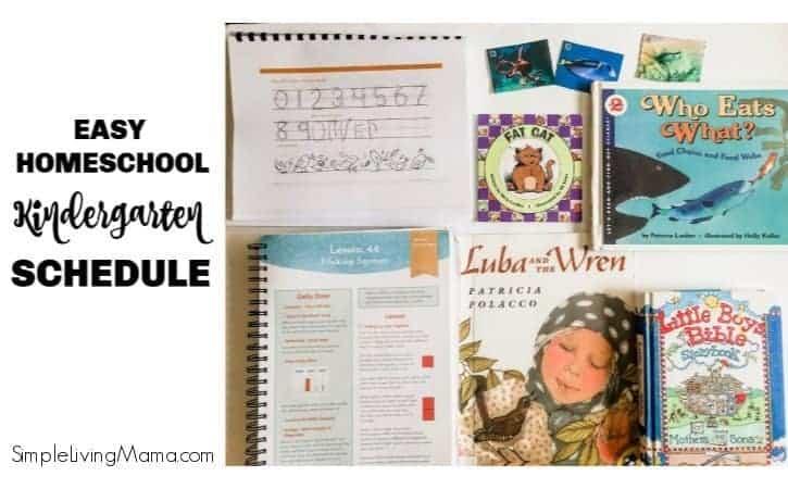 Homeschool Kindergarten Daily Schedule Simple Living Mama