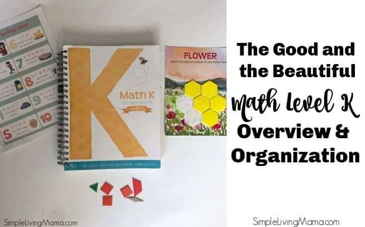 The Good and the Beautiful Math K Overview and Organization