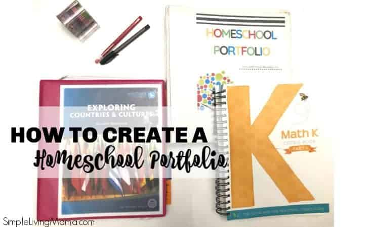 How To Set Up a Homeschool Portfolio with Free Printables