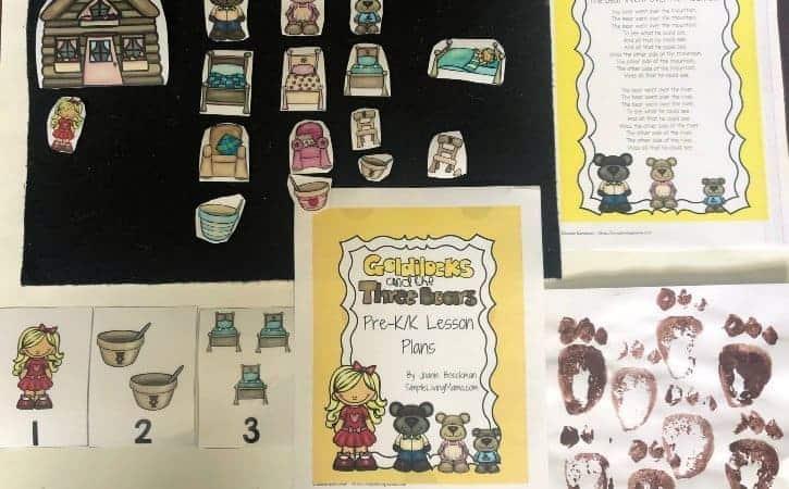 Goldilocks and the Three Bears Preschool Lesson Plans