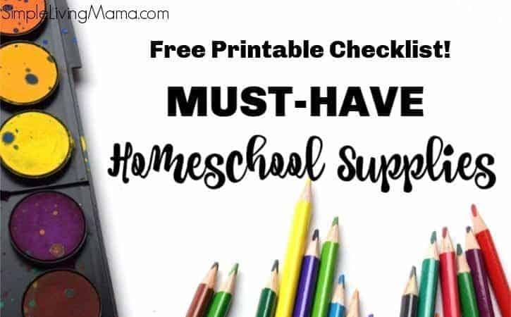 Homeschool Supply List – Free Printable Homeschool Must Have Supplies