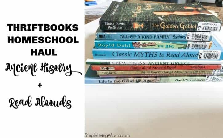 Homeschool Books for Ancient History – Thriftbooks Book Haul
