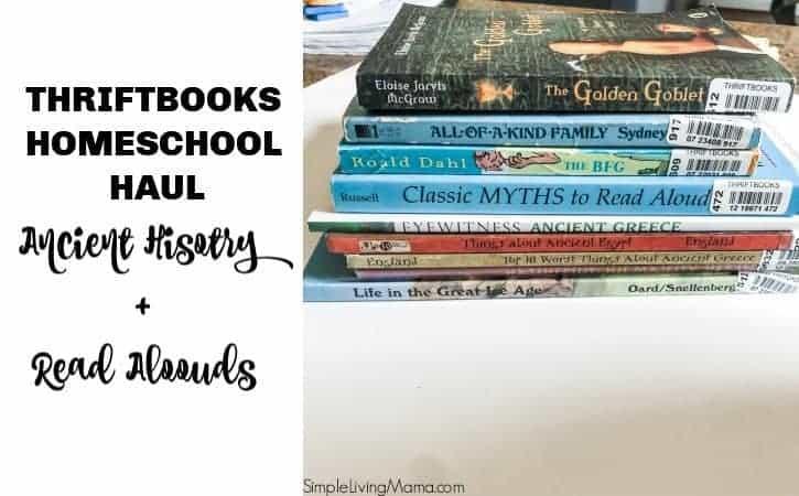 Homeschool Books for Ancient History – Thriftbooks Book Haul