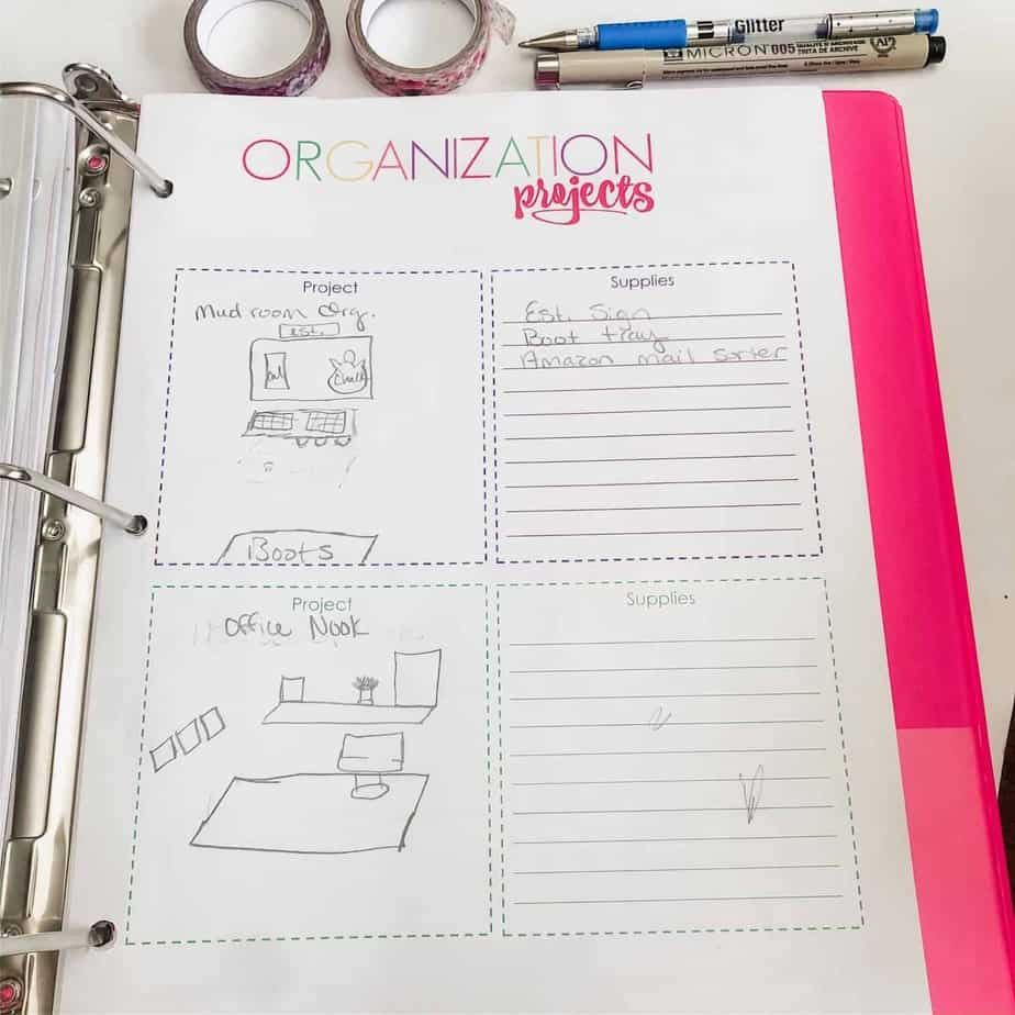 Home management binder printables to print out