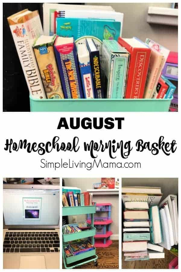 Take a look at what's in our homeschool morning basket...er, cart!
