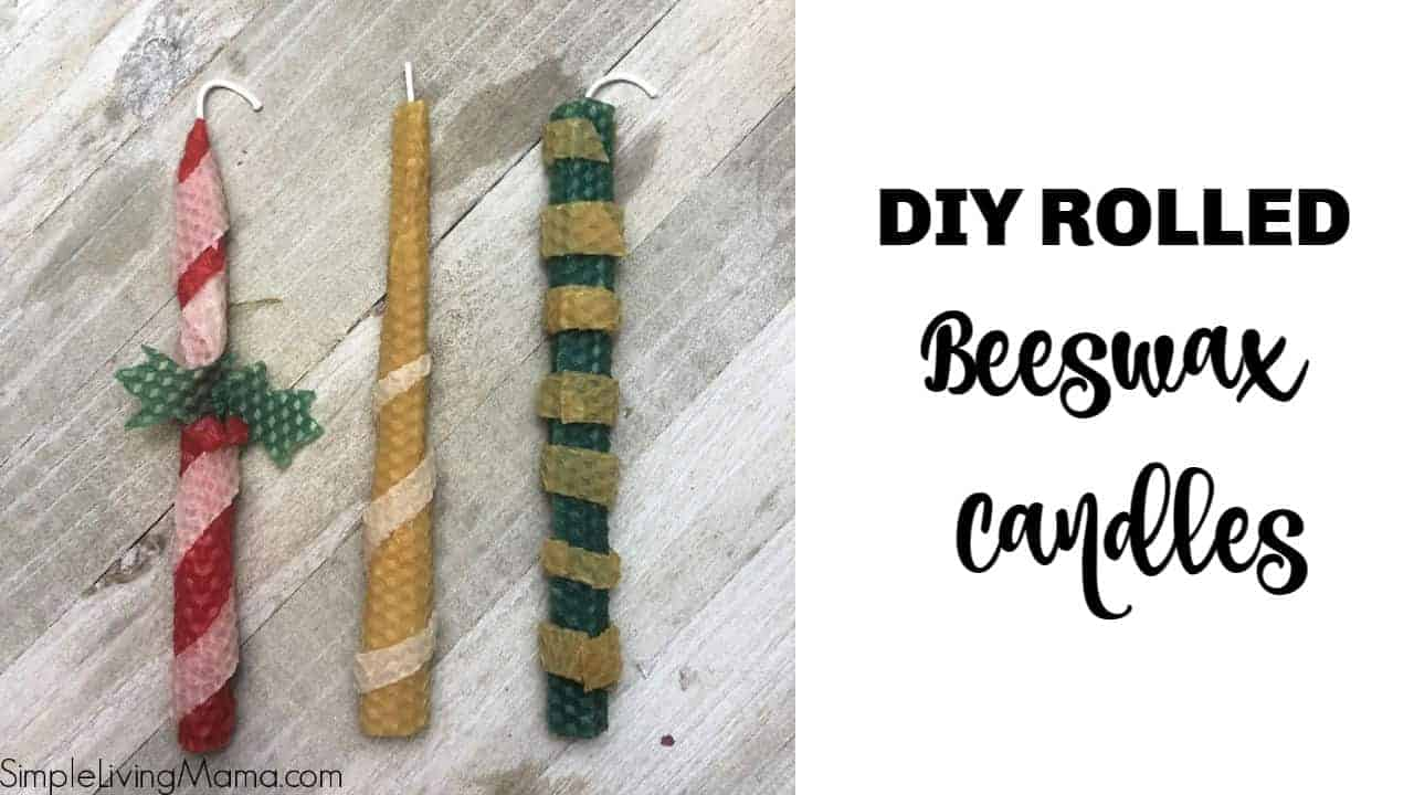Cute DIY rolled beeswax candles
