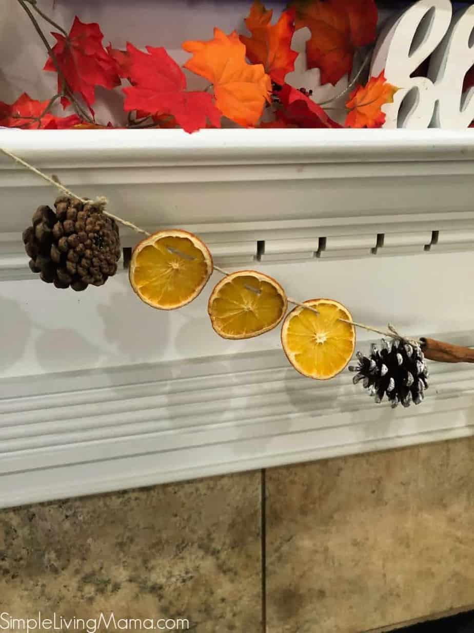 DIY Dried Orange Garland   Simple Living Mama