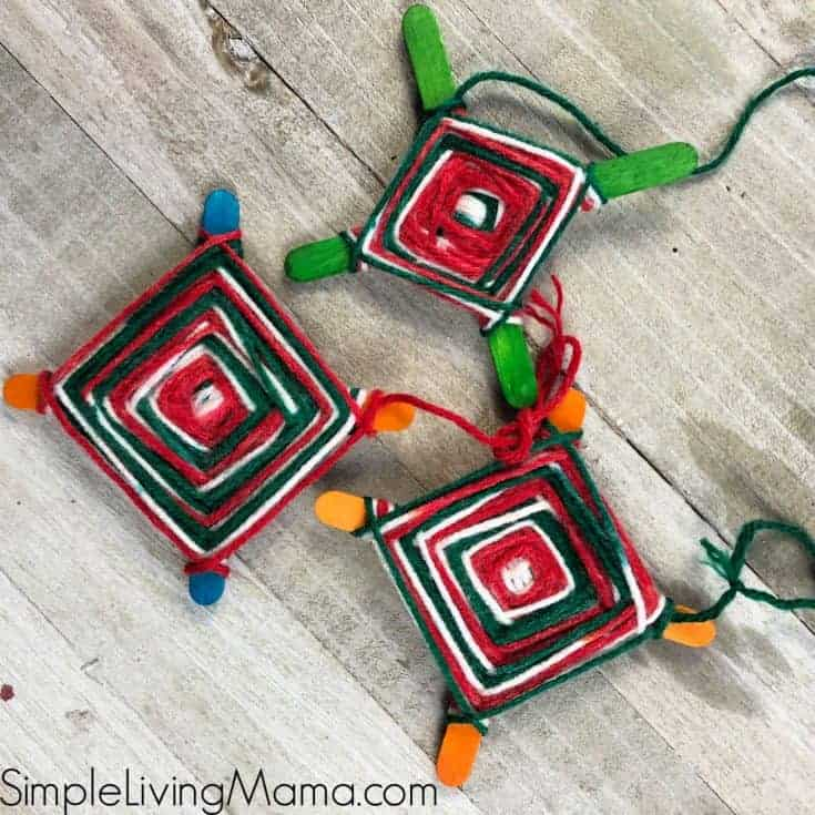 How To Make a God's Eye Craft - Weaving Ornament for Kids