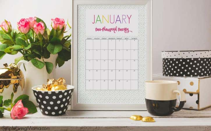 Printable Colorful 2020 Calendars