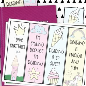 DIY fairytale printable bookmarks