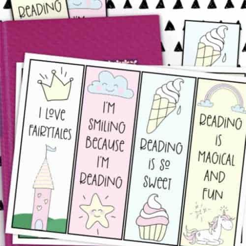 DIY fairytale printable bookmarks