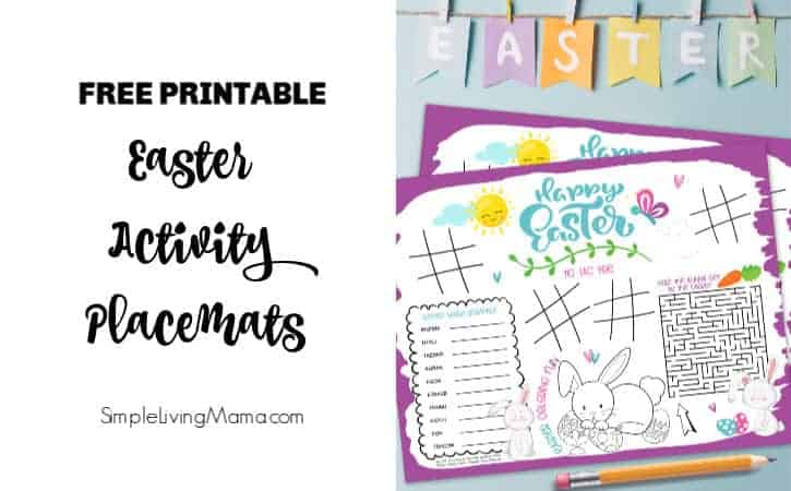 Printable Easter Activity Placemat