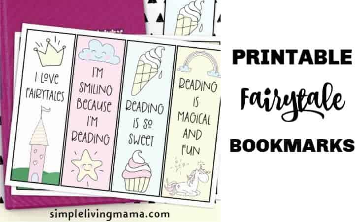 Sweet Printable Fairytale Bookmarks