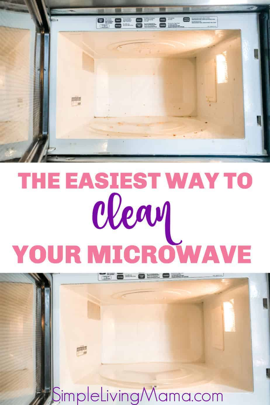 Learn the easiest way to clean your microwave, plus a few other solutions.