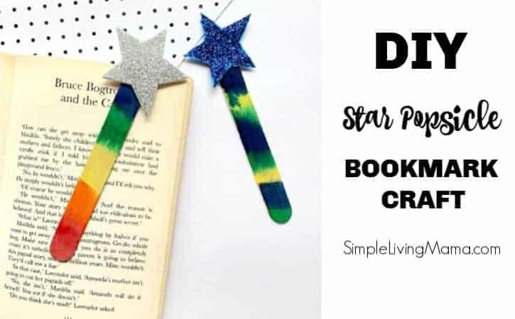 DIY Popsicle Stick Star Bookmark