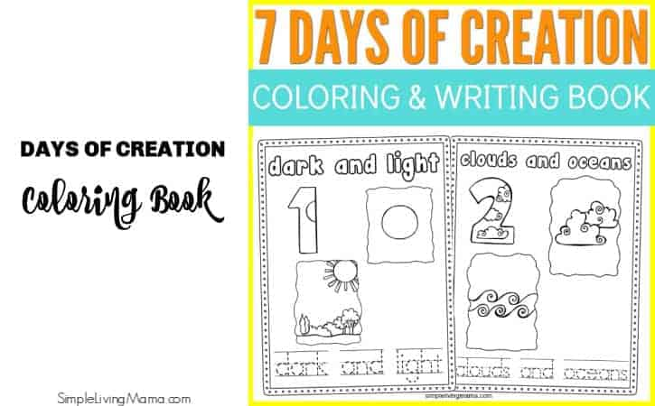 Printable Days of Creation Coloring and Writing Book