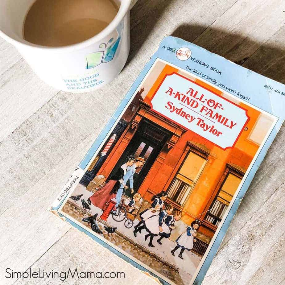 All of a Kind Family Book and cup of coffee