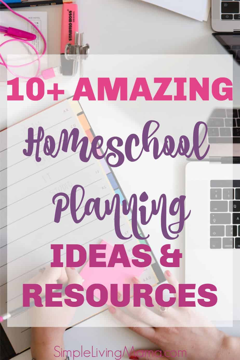 10+ amazing homeschool planning ideas