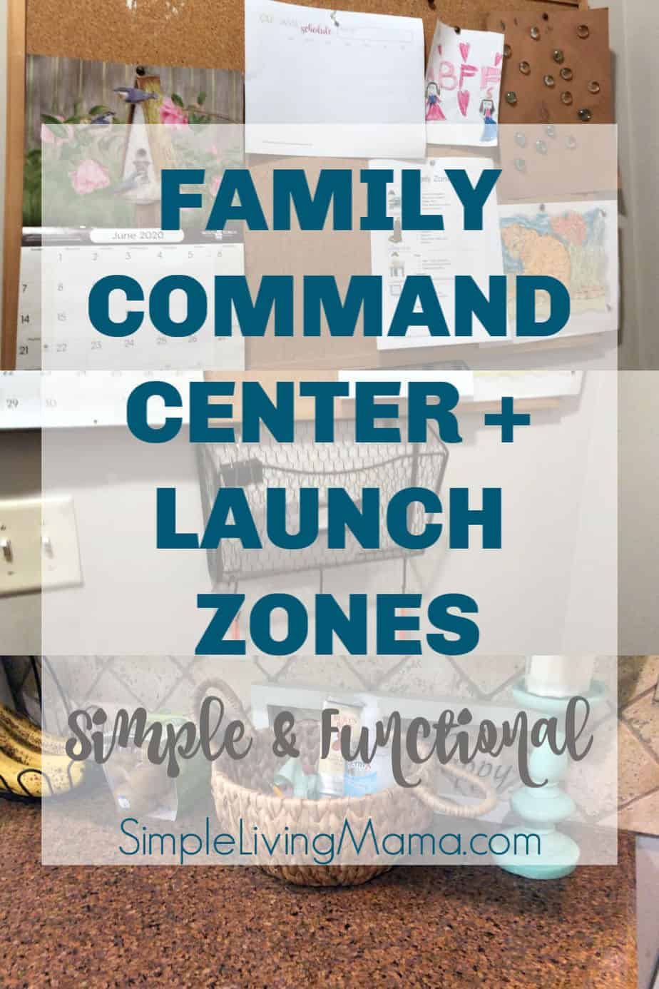 Family command center and launch zones