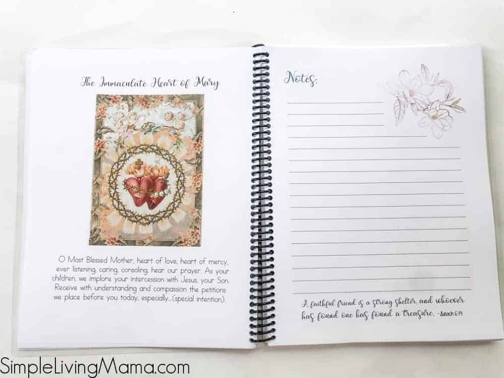 Monthly inserts for Catholic homeschool planner