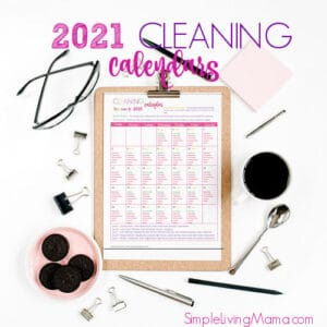 2021 Monthly Cleaning Calendars