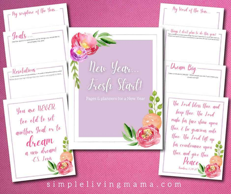 New Year's Resolution Printables