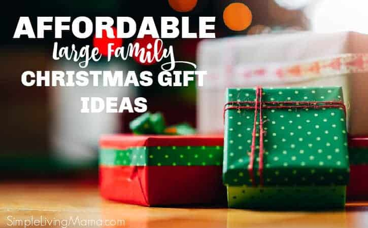 Affordable large family gift ideas