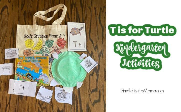 T is for Turtle Kindergarten Activities and Ideas