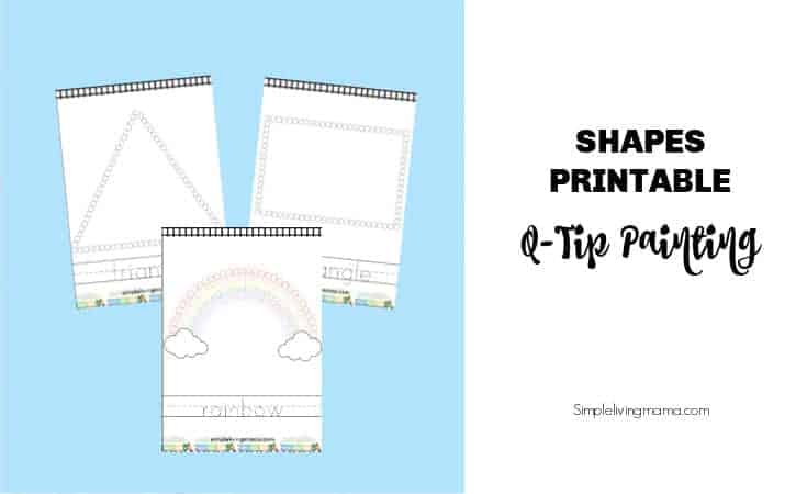 printable shapes q-tip painting