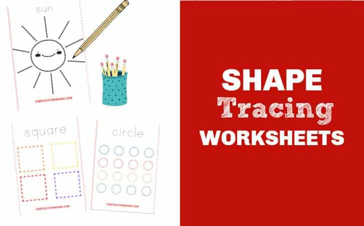 Printable Traceable Shapes Worksheets for Preschool and Kindergarten