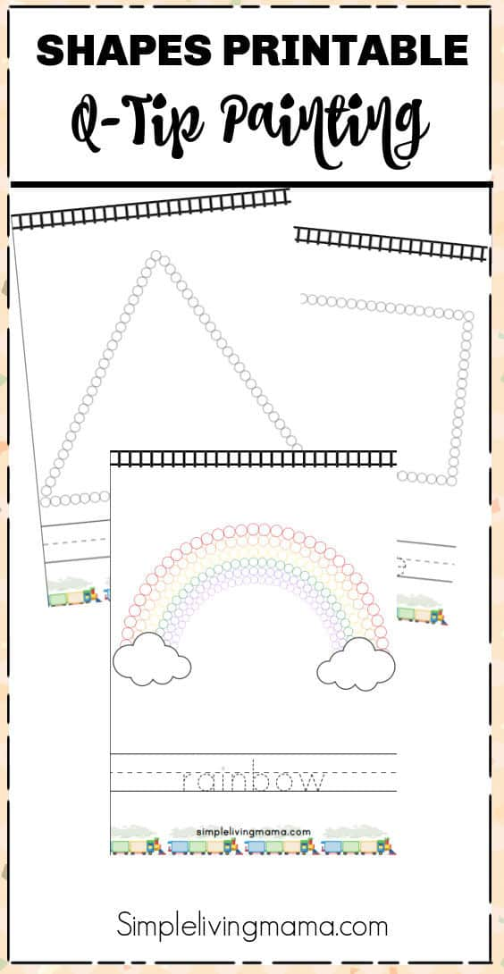 Shapes Q-Tip Painting Worksheets
