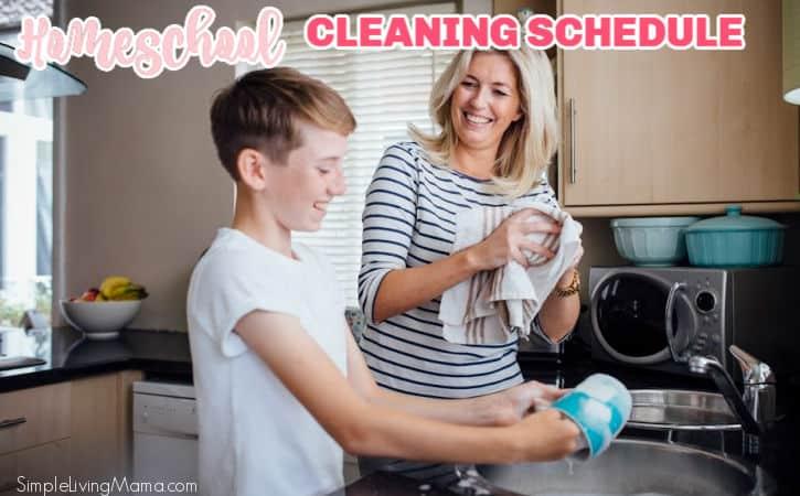 Homeschool Cleaning Schedule