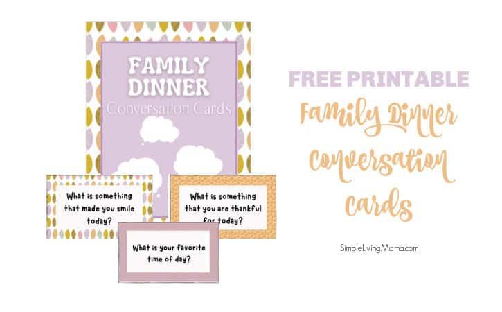 Printable Dinner Conversation Starter Cards for Families
