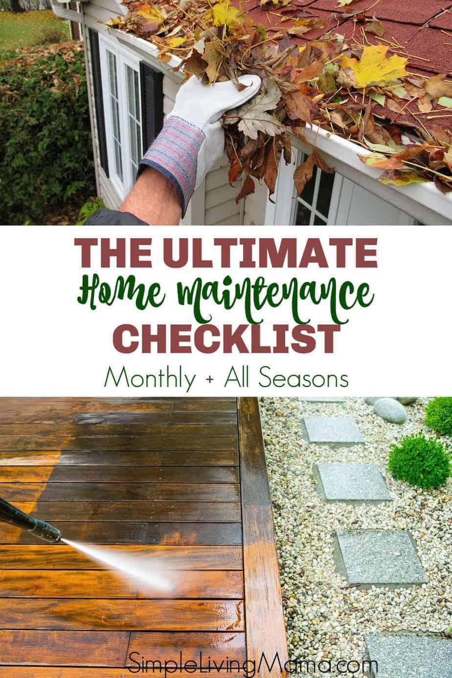 Ultimate Household Maintenance Checklist