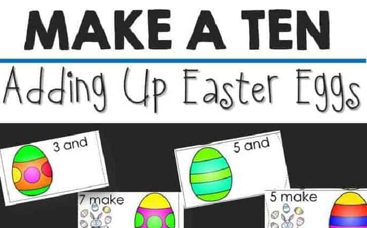Addition Facts to 10 Printable Puzzles – Easter Themed